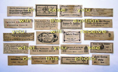 Violin Labels Old copies for the decoration of music shops(set 1300)