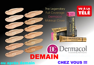 ! Promo ! Dermacol Make-Up Cover Fond De Teint Ultra Couvrant Hypoallergenique