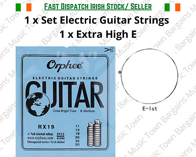 Electric guitar strings 0.10 + 8 Free pick + 1 extra high E string