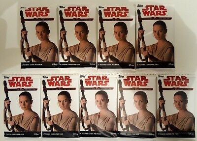 JOURNEY TO Star Wars THE LAST JEDI  Trading Card PACK  X 9  TOPPS  2017 US Edit.