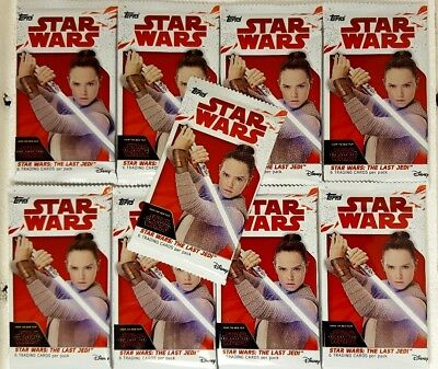 STAR WARS The Last Jedi SERIES 1 Trading Card PACKS X 9 Topps 2017