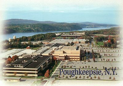 Poughkeepsie, New York, Main IBM Plant on South Road, Aerial View, NY - Postcard