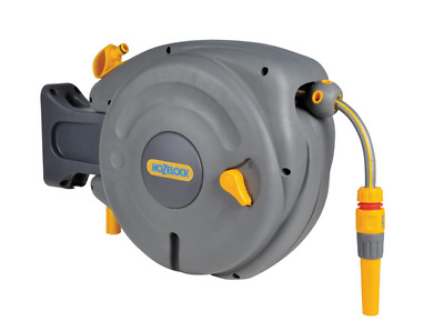 Retractable Hose Reel Automatic Rewind Water Garden 40m Wall Mounted Type