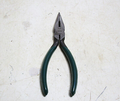 """New S-K # 16415 Chain  Long Nose Pliers - 5"""" Long With Cutter"""
