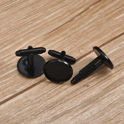 10Pcs Round Cabochon Base Cufflinks Blank Setting Copper Cufflinks Base For DIY