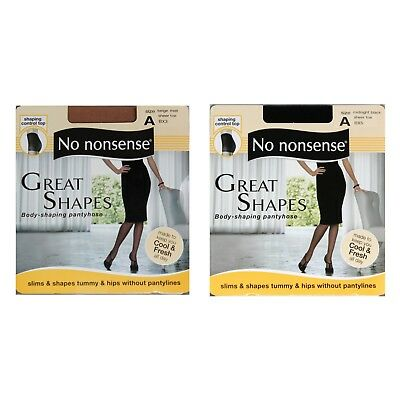 57a511405 NO NONSENSE (1) Pair GREAT SHAPES Pantyhose SHAPING CONTROL TOP New  YOU