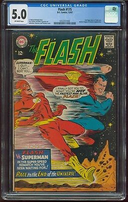 Flash 175 CGC 5.0 OW/WHITE Pages (2nd Flash VS Superman Race!!)