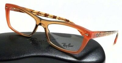 b35f57be73b49 New Authentic RAY BAN RX5255 5487 Gradient Brown On Orange 51mm Rx  Eyeglasses