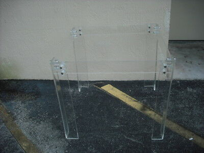 Vintage Mid Century Modern Lucite Card Table Base Without Glass