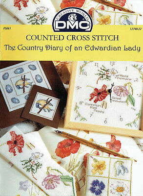 CROSS STITCH PATTERNS from  'THE COUNTRY DIARY of an EDWARDIAN LADY'