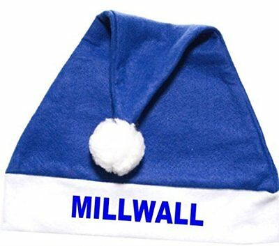 Millwall FC Football Club Santa Father Christmas Xmas Hat - Fun!