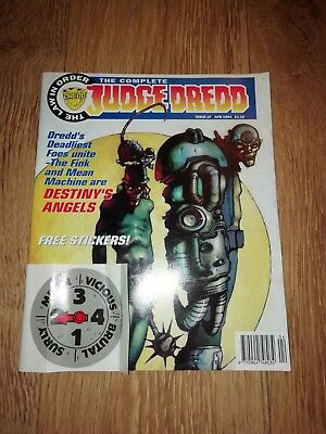 The Complete Judge Dredd Issue 27  ~ April 1994 W/ Free Stickers