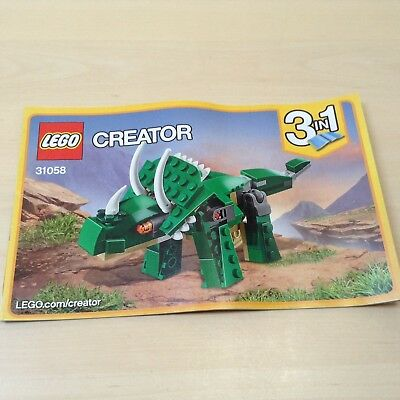 Lego Creator Instruction Book 31058 Mighty Dinosaurs Instructions