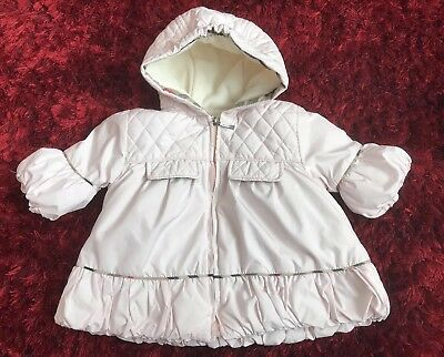 Baby Girls Designer Burberry Jacket Age 0/3 Months Quilted