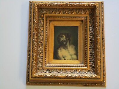 17Th To 18Th Century Old Master Painting Small Gem Museum Quality Iconic Jesus