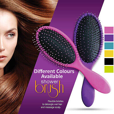 Professional Soft Hair Brush Beauty Salon Hairstyles Detangling Bristles Comb UK