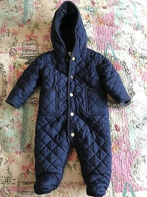 Baby Boys Quilted Ralph Lauren Snow Suit Age 6/9 Months