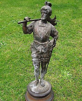 Very Large 370 mm - Outstanding  Old Templar - Knights Bronze Statuette  (+98)