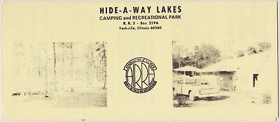 c1973 Hide-A-Way Lakes Camping Yorkville IL Brochure
