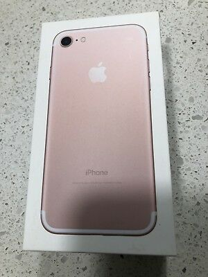 IPHONE 7 ROSE GOLD EMPTY RETAIL BOX NO ACCESSORIES 32GB + Decal