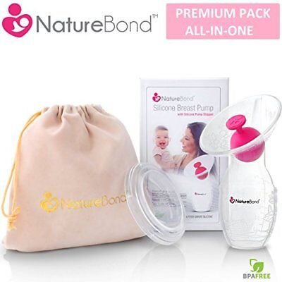 NatureBond Silicone Breastfeeding Manual Breast Pump Milk Saver Suction |