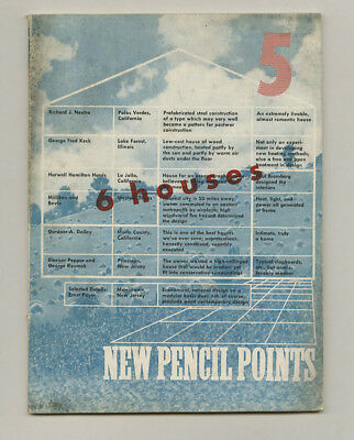 1943 Richard Neutra Houses PENCIL POINTS George Fred KECK Wallace PRATT House TX