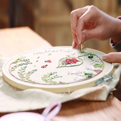 Wooden Embroidery Hoop Cross Stitch Frame Craft Tool Set Kit 15-27cm Durable