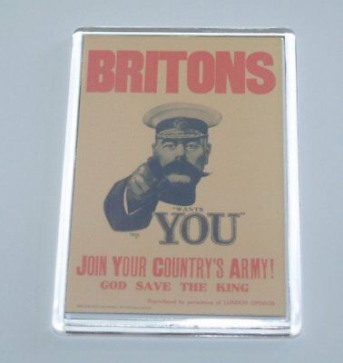 BRITONS JOIN YOUR ARMY World War 2 Retro Fridge Magnet - Ideal Present/Gift