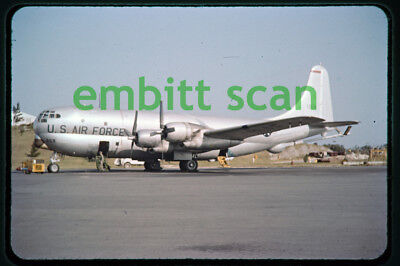 Original Slide, USAF Boeing KC-97F Stratofreighter at Kindley AFB Bermuda, 1960
