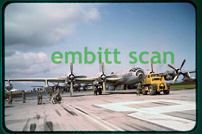 Original Slide, USAF Boeing KB-50K Superfortress at Kindley AFB Bermuda, 1950s