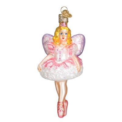"""Sugar Plum Fairy"" (10111)X Old World Christmas Glass Ornament w/OWC Box"