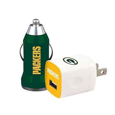 Official Licensed NFL Green Bay Packers 2 in 1 USB Car&Travel Wall Home Chargers