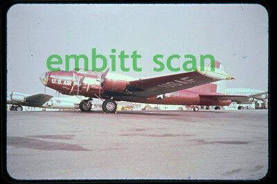 Original Slide, USAF 3205th Drone Group Boeing QB-17N Flying Fortress 1956 Eglin