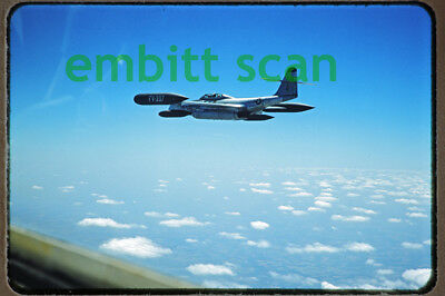 Original Slide, Air-to-Air USAF Northrop F-89D Scorpion, late 1950s