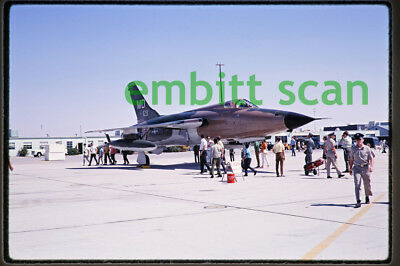 Original Slide, USAF 561st TFS Republic F-105D Thunderchief at Edwards AFB, 1969