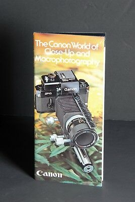 The Canon World Of Close-Up and Macrophotography 1976 Camera Brochure