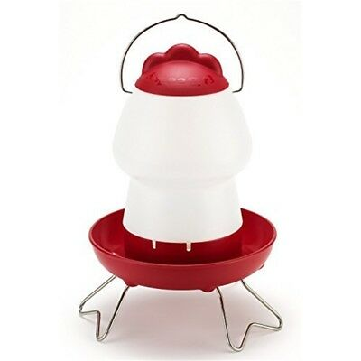 Feathers And Beaky Top Fill Chicken Drinker, Red