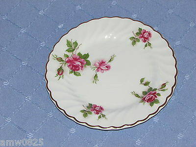 VINTAGE JB JOHNSON BROS ENCHANTMENT BREAD PLATE PINK ROSES GOLD IRONSTONE crazin