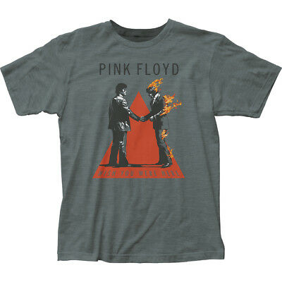 Authentic Pink Floyd Handshake Wish You Were Here Adult Soft T-shirt S M L X 2X