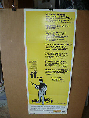 IF......, orig 14x36 / movie poster (Malcolm McDowell)