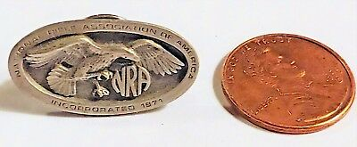 Vintage National Rifle Association Pewter or Silver Hat Lapel Pin.