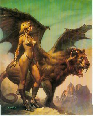 Boris Vallejo Postercard: Winged Beast (USA, 1992)