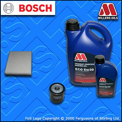 SERVICE KIT for FORD FOCUS MK3 2.0 ST BOSCH OIL CABIN FILTERS +OIL (2012-2017)