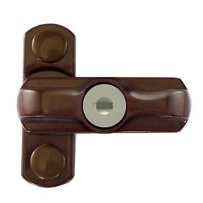 TSS UPVC Locking Sash Jammer Brown