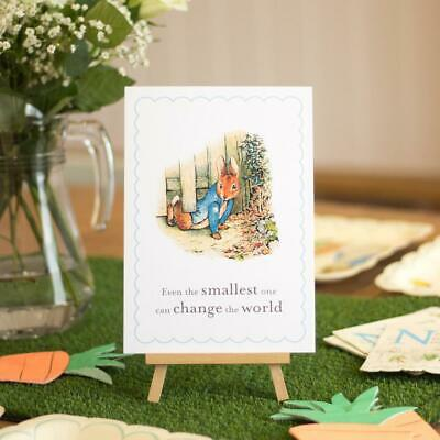 Peter Rabbit A5 Sign 'Even the Smallest One can Change the World Sign and Easel