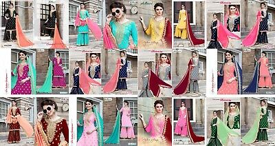 plazo indian pakistani bollywood wedding party salwar georgette suit ethnic 1234