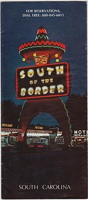 1970's South Of The Border Amusement Park Brochure
