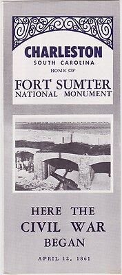 1960's Fort Sumter National Monument Brochure