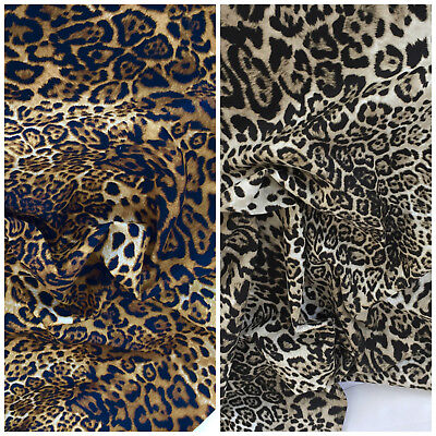 ROSE   HUBBLE Cotton Leopard Print Fabric Fabrics Material Designer ... 3ca771be5