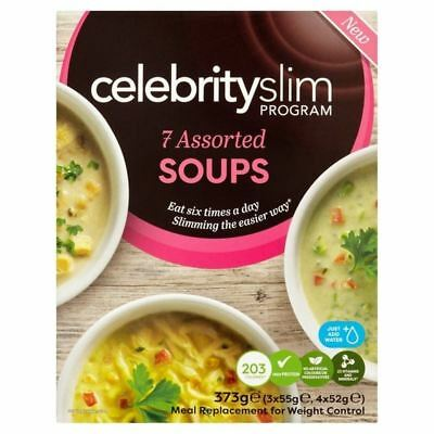 4x Celebrity Slim Assorted Soups 373g
